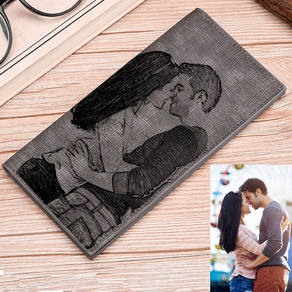Double-Sided Photo Gray Wallet